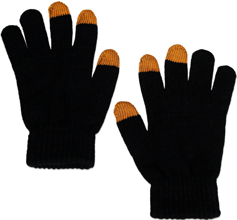 Eurow Pair of Knitted Touch-Screen Gloves