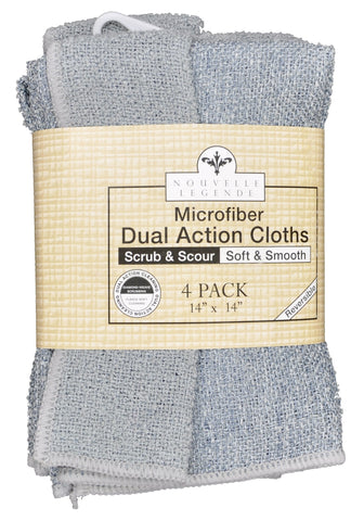 Microfiber Dual Action Scrubbing Cloths