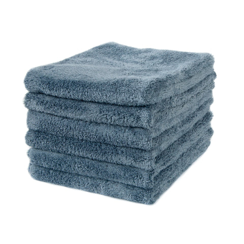 Detailer's Preference® 16 x 16 in. 500 GSM Ultra-Plush Edgeless Steel Gray Microfiber Towels – 6-pack