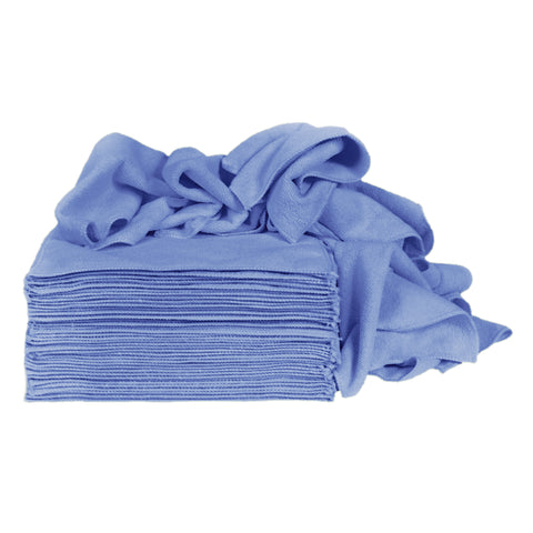 Eurow Microfiber Premium 12 x 12 350 GSM Cleaning Towels Blue - 50 Pk