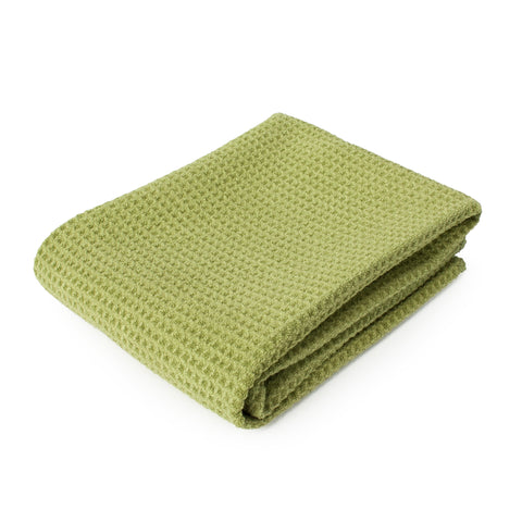 ECP 16 x 28 in. 390 GSM Olive Green Waffle Weave Microfiber Wipe Down Horse Cloth