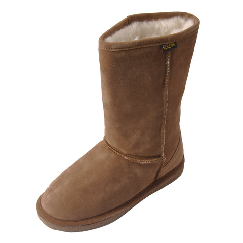 Eurow Women's Shearling Boots – Brown/White