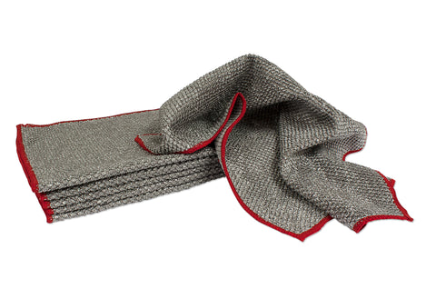 "Big Pearl Microfiber Towel 430 gsm 14""x 17"" Gray 6 Pack"