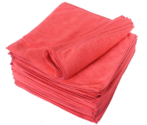 Eurow Microfiber 14 x 14in 300 GSM Cleaning Towels 25-Pack