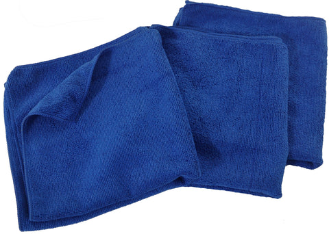 Eurow® Microfiber 16 x 16in 300 GSM Cleaning Towels 12-Pack