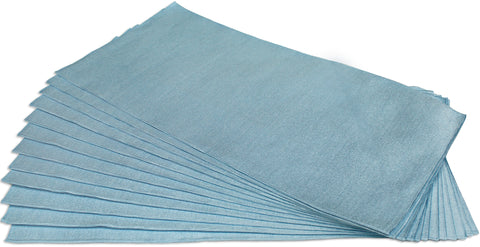 CleanAide® Ultrasonic Cut Glass Weave Microfiber Towels 16 in X 16 in - 12 Pack