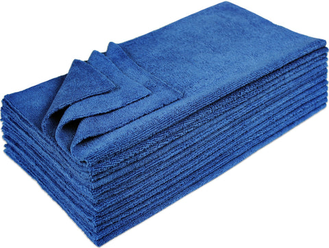 Eurow 16 x 16 in. 300 GSM Ultrasonic Cut Microfiber Cleaning Towels – 12-pack
