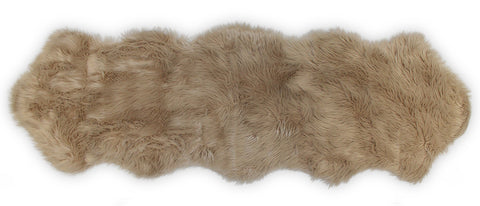 Nouvelle Legende® Faux Fur Sheepskin Premium Rug Duo (23 in. X 73 in.)