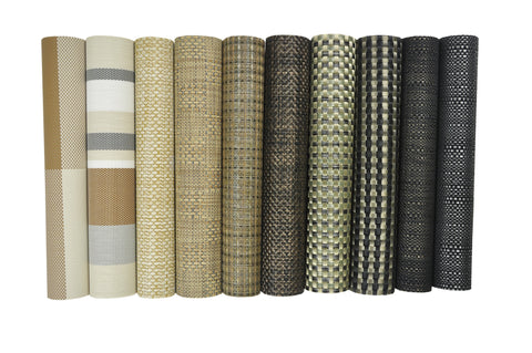 Nouvelle Legende® Tweed Woven Vinyl Placemats - Set of 12