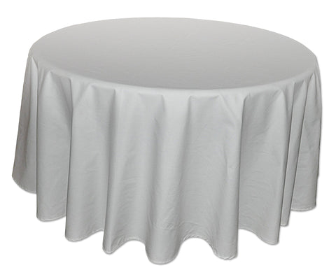 Nouvelle Legende® 90 x 90 in. White Round Polyester Tablecloth