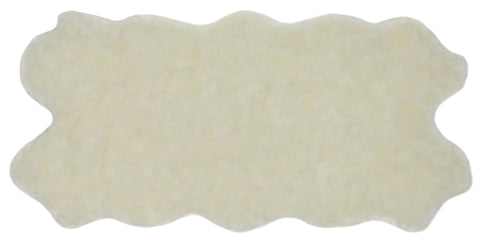 Nouvelle Legende® Faux Fur Sheepskin Rug Quattro (34 in. X 67 in.) - White