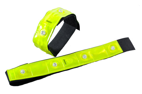Eurow Safety 3M Scotchlite Reflective Bands With 4 LED (2 Pack)