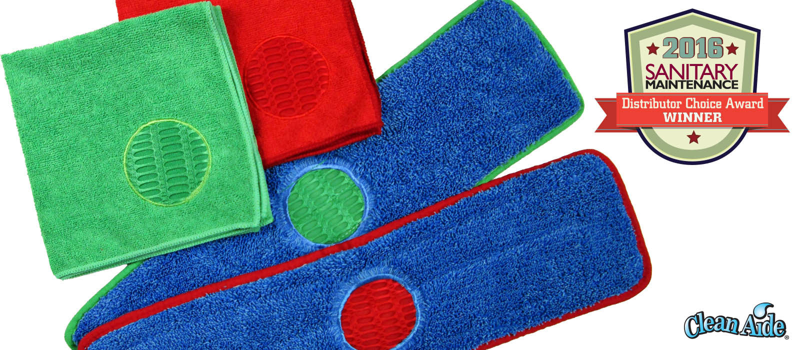 Spot towels and mop pads by CleanAide