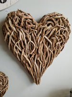 Large Driftwood Heart Wall Hanging