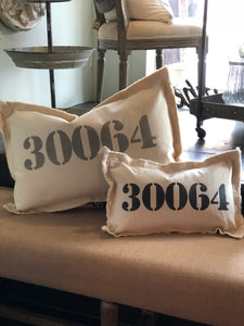 Large Custom Zip Code Pillow