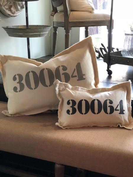 Large Zip Code Pillow