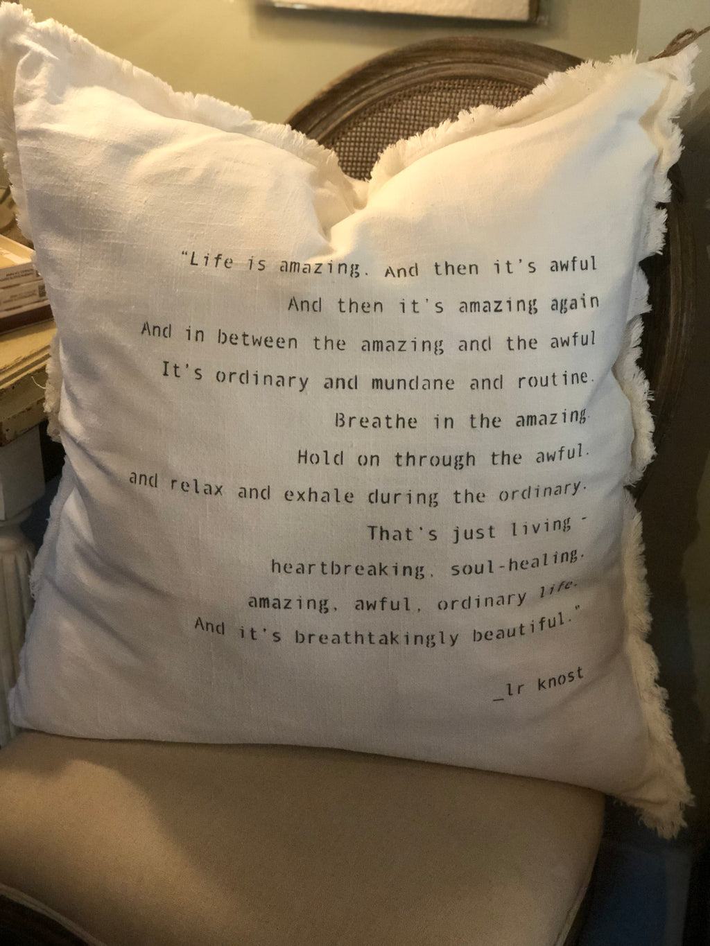"""Life is amazing.."" Down-Filled Pillow"