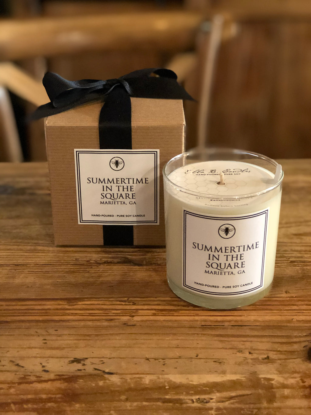 Summertime in the Square Candle