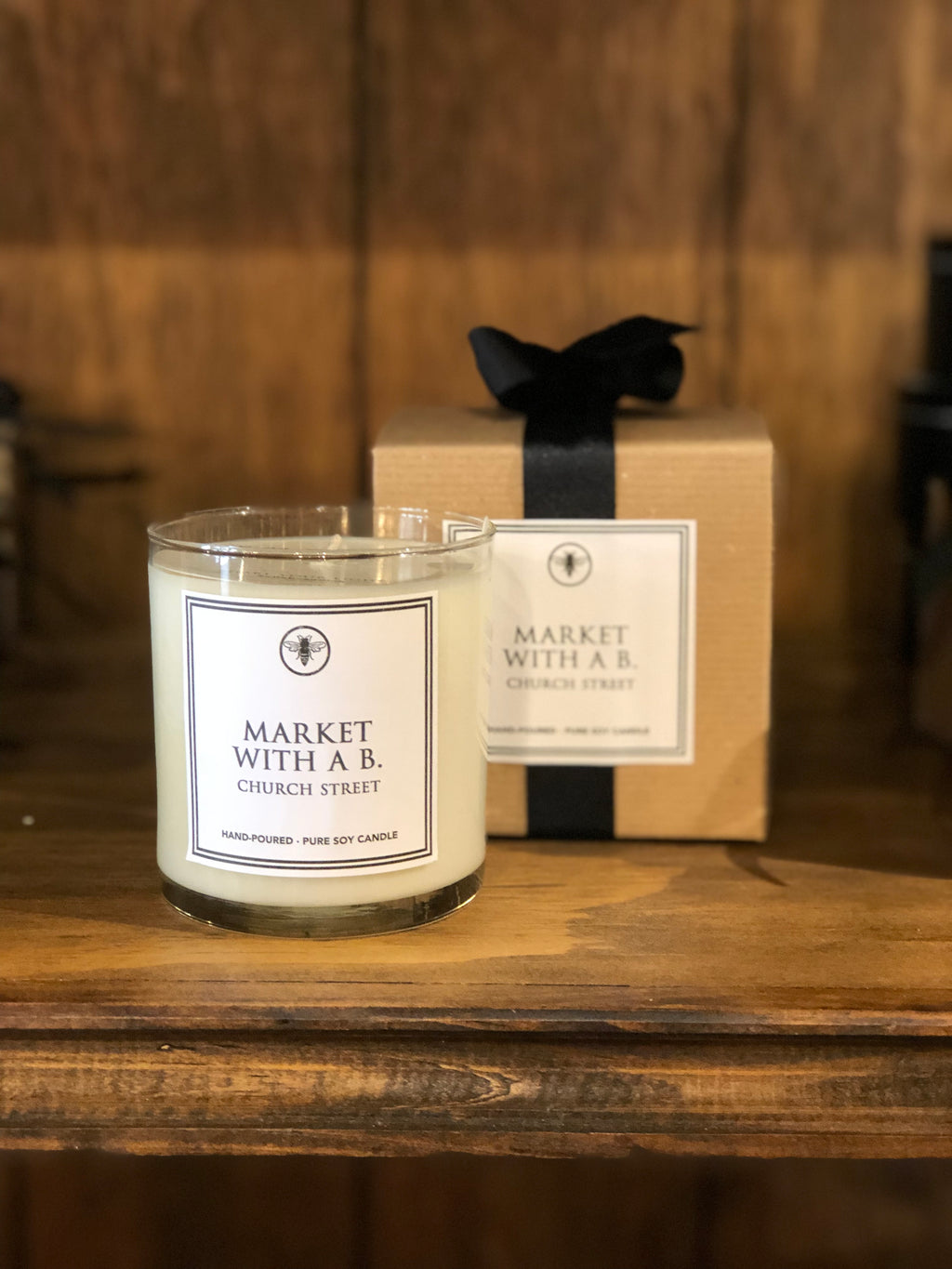 Market with a B. Marietta Georgia Candle