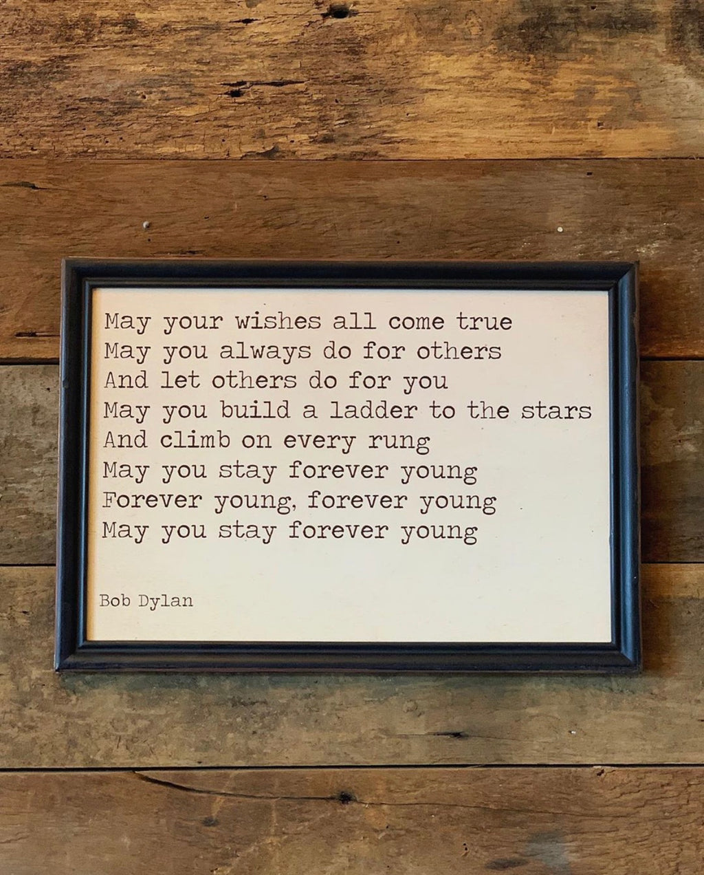 Bob Dylan Forever Young Wall Art