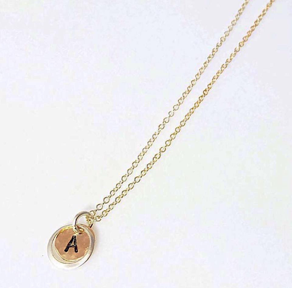 Gold/Silver Initial Necklace
