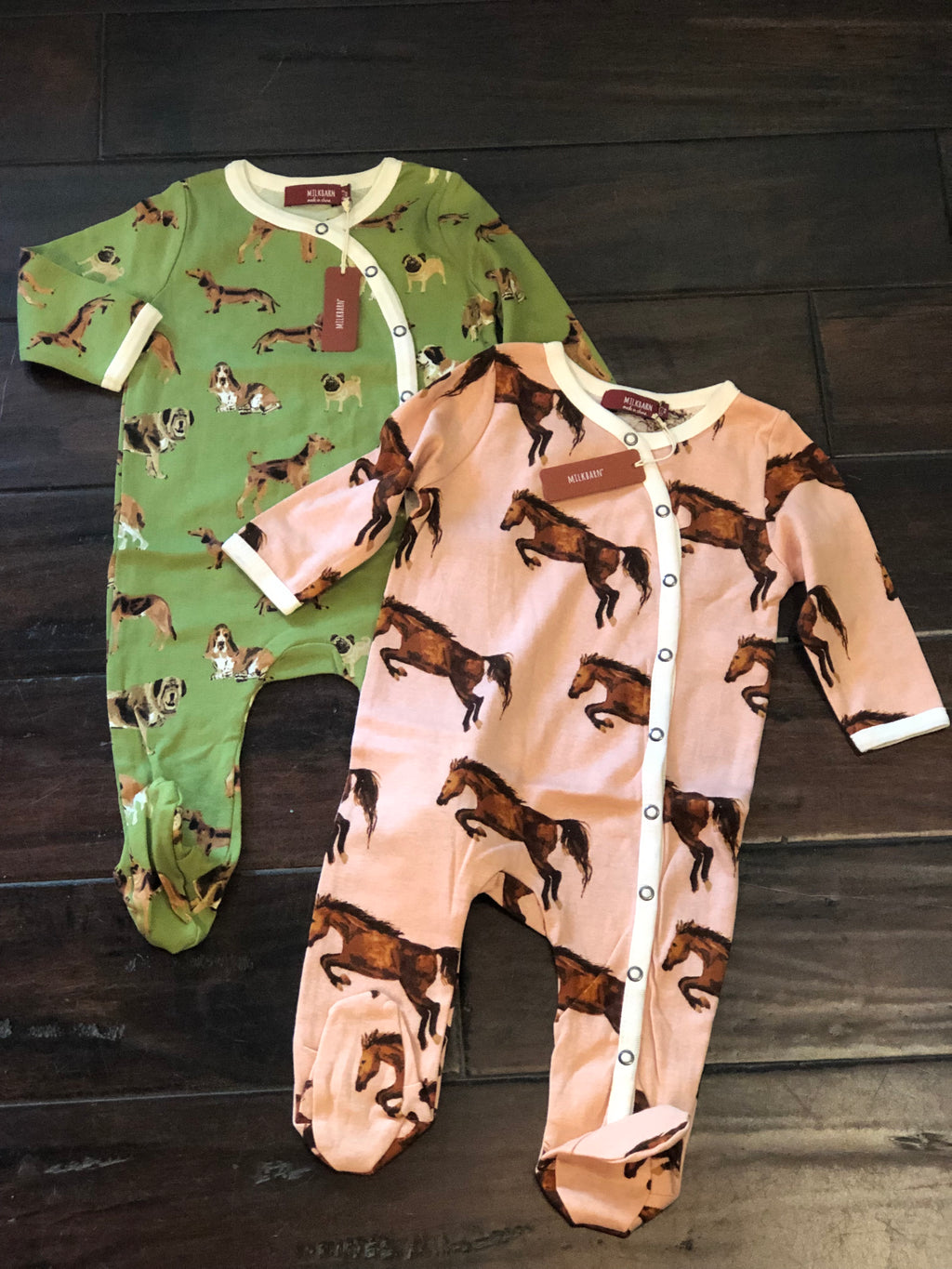 Footed Romper From Milkbarn