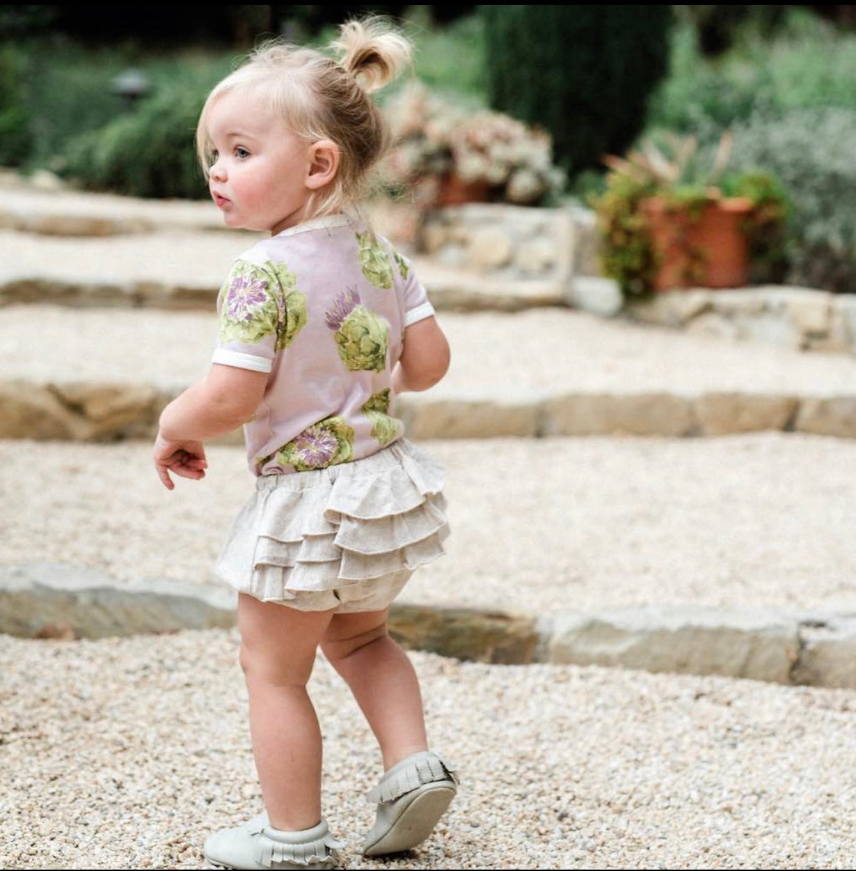 Organic Bloomers Ruffles for Girls & Pockets for Boys