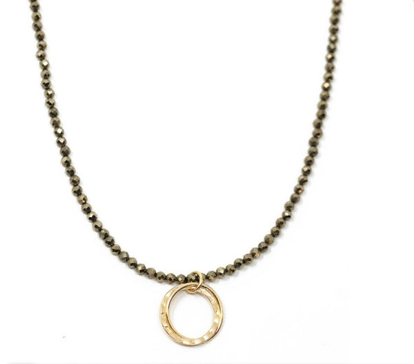 Erin Gray's Circle Of Friends Natural Pyrite Necklace
