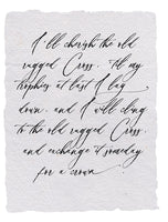 Classic Quotes Handmade Paper Prints (8 to pick from)