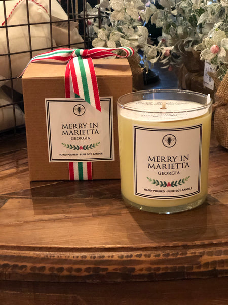Merry In Marietta Holiday Candle