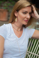 Erin Gray's Circle Of Friends Pyrite Necklace (Paired here with Stretch Choker)