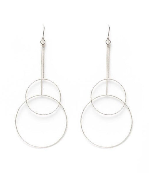 Delicate Circle Earrings (Silver or Gold)