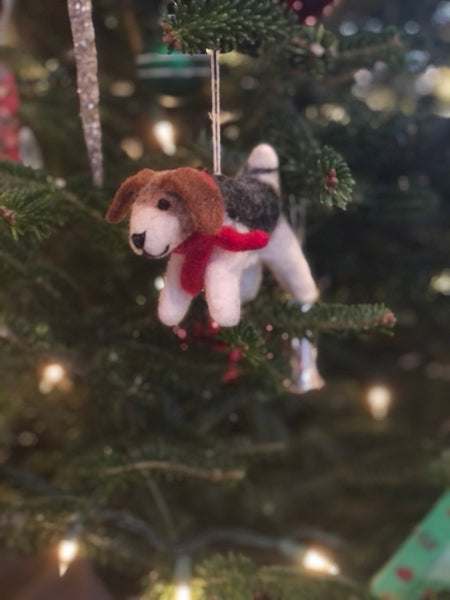 Felt Dog Ornament