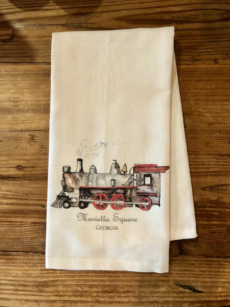 Marietta Square Train Tea Towel