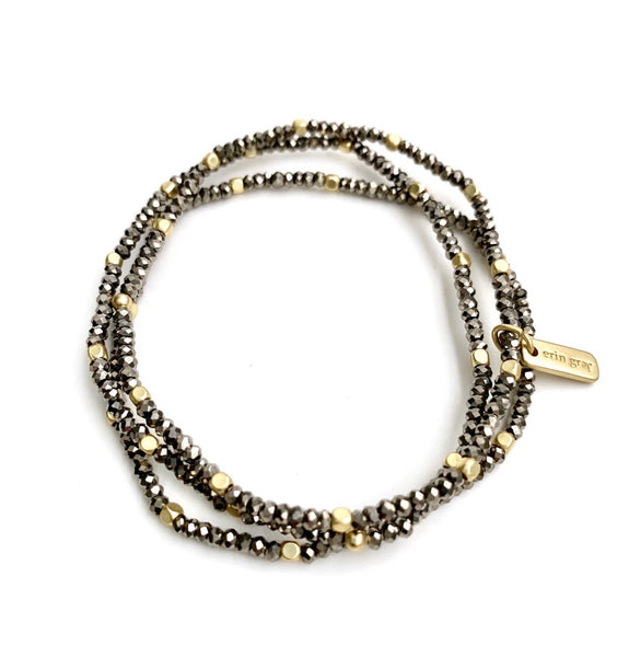 Erin Gray's Shimmer Pyrite Bracelet Stack (Choose Natural or White)