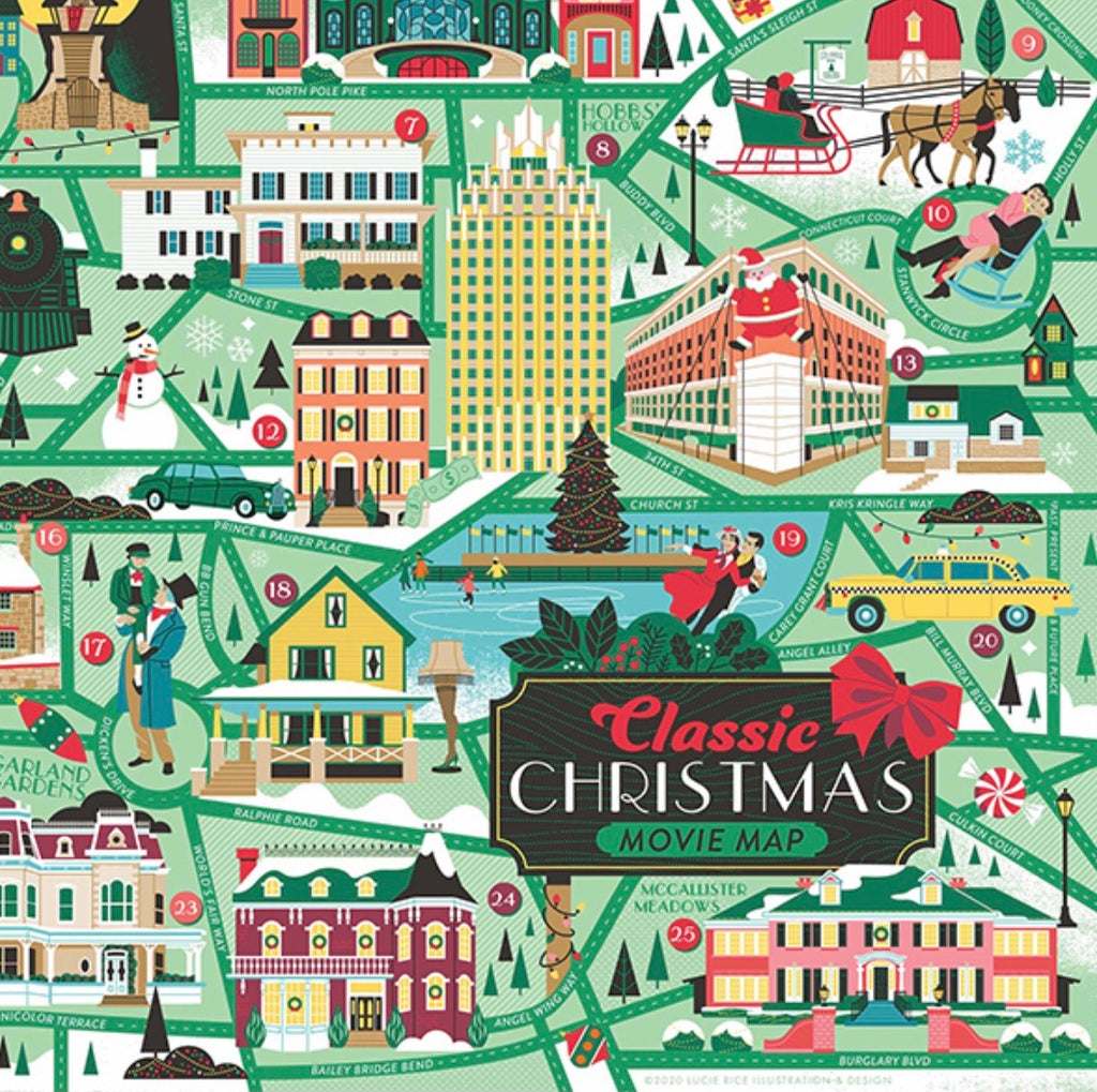 Classic Christmas Movie Roadmap Puzzle