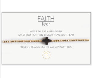 Faith Over Fear Stretch Bracelet