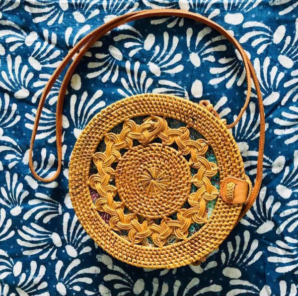 Round Sunburst Crossbody