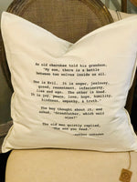 Sentiment Pillow (Three Quotes To Choose From)