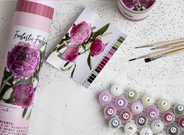 Pink Picasso Paint By Numbers Kit (15 Kits To Choose From)