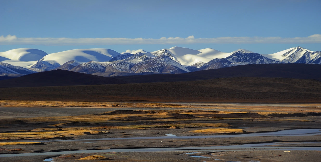 River and Mountain Landscape of Tibet