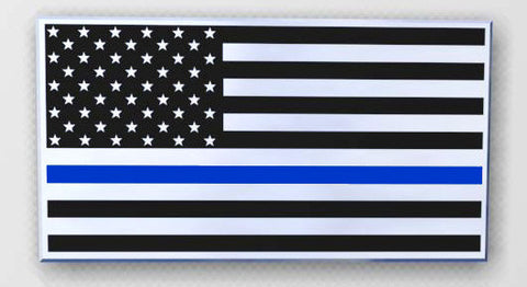 US Flag Blue Line