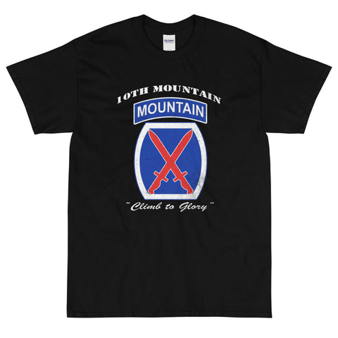 10th Mountain Div Climb To Glory Distressed T-Shirt