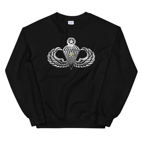 Master Wings w/Combat Star Distressed Sweatshirt