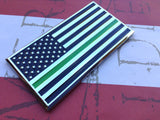 US Flag Thin Green Line