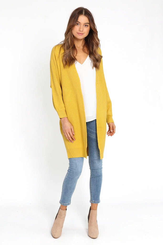 Wrap Me Up Cardigan / Mustard