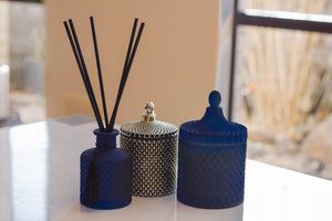 Dark & Stormi - Navy Round Candle