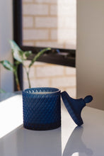 Load image into Gallery viewer, Dark & Stormi - Navy Round Candle