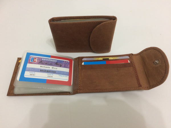 Leather mini wallet wcredit card business card holder dark tan leather mini wallet wcredit card business card holder dark colourmoves