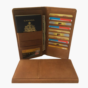 0a2498882b82 Passport Wallet Cow Hunter Genuine Leather Travel Wallet Passport Hold –  Shelz Leather